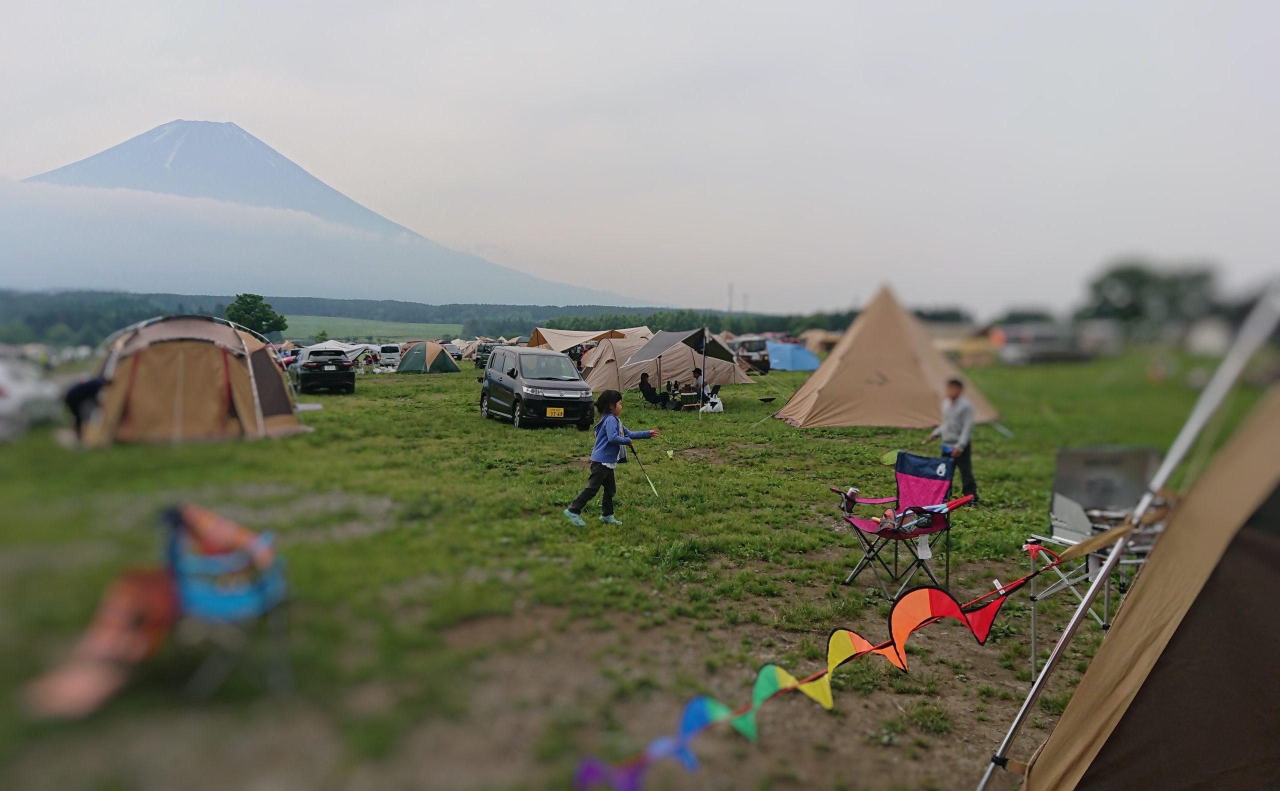 子どもとふもとっぱらキャンプ場