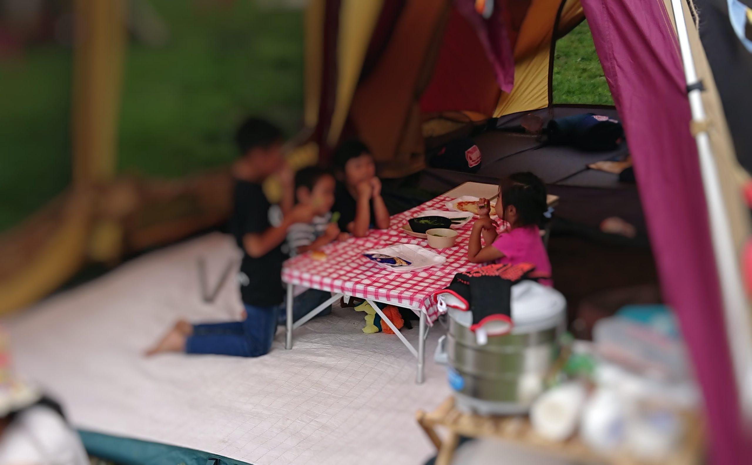 ファミリーキャンプのレイアウトでおすすめのお座敷スタイル
