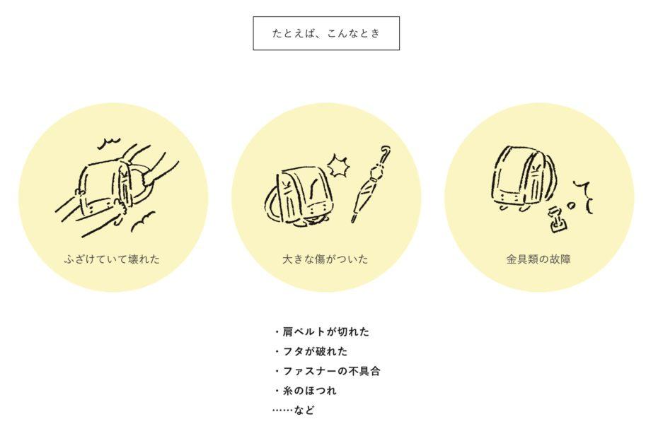 土屋鞄ランドセルの無料修理